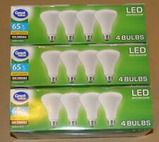 12 Pack Great Value BR30 LED Light Bulb, 8W = 65 WATT Soft White Reflector NEW