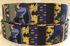 """��BATMAN BLOCK��1""""wide Grosgrain Ribbon. 1 Meter"""