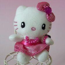 "HELLO KITTY * Pink Plush Doll Mascot Charm 3.9"" Universal Studio Japan USJ 2012"