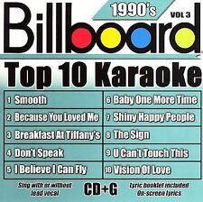 Billboard Top-10 Karaoke - 1990's Vol. 3 10+10-song CD+G)