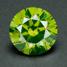 CERTIFIED .061 cts Round Cut Vivid Green Color VVS Loose Real/Natural Diamond 1E