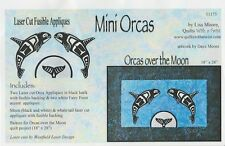 Mini Orcas over the Moon Laser Cut Fusible Appliqué by Lisa Moore with pattern