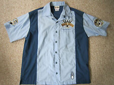 Disney World Mickey Mouse + Pete Embroidered Bowling Shirt Strike Kings Men's M