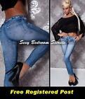 LEGGINGS - they look like Jeans JEGGINGS Blue Denim Leopard Belt