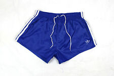 ADIDAS RARE VINTAGE 70S 80S SHINY BLUE RUNNING GLANZ MENS SHORTS M/L (ST41)