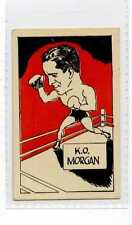 (Jw959-100) Cummings,Famous Fighters Swop Card,K.O. Morgan,1949 #22