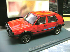 VW Golf II 2 MKII Cross 4x4 Country red rot 1990 NEU limited NEO Resin RAR 1:43