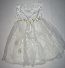 BALLERINA SPECIAL OCCASION WHITE DRESS W ROSETTES SIZE 2 EASTER WEDDING CHURCH