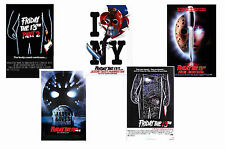 FRIDAY THE 13TH  FILMS - SET OF 5 - A4 FILM POSTER PRINTS # 2