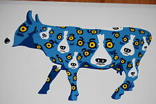 George Rodrigue Blue Dog Walking Across Texas White Silkscreen Print Signed Art