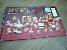 34 PIECE FURNITURE KIT in 24th SCALE FOR DOLLS HOUSE