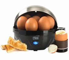 Neo Stainless Steel Electric Egg Cooker Boiler Poacher & Steamer Fits 7 Eggs