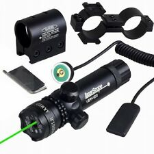 Tactical Hunting rifle Green Laser Sight Dot Scope Adjustable w/ Mount light Gun