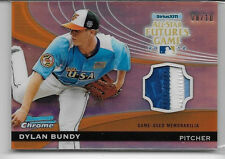 2012 BOWMAN CHROME DYLAN BUNDY ALL-STAR FUTURES GAME 3 COLOR PATCH ROOKIE 8/10