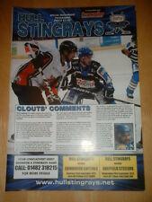 2012/13 CASCO RAYAS V Edimburgo capitales & Sheffield Steelers-Hockey sobre Hielo