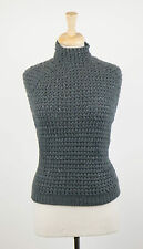 NWT BRUNELLO CUCINELLI Green Cashmere Blend Knitted Sweater Vest Size L  $3110
