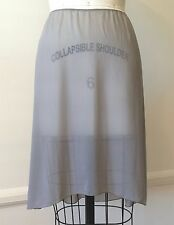 PRADA Size 8 Solid Pale Gray Sheer Stretch Silk Blend A-Line Above Knee Skirt