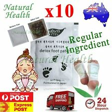 10  Detox Foot Pad Patch Patches KINOKI Herbal Weight loss toxin removal Regular