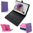 8 inch Tablet Cover Stand Folio Keyboard Case PU Leather for Android 8