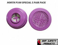 NORTH P100 PARTICULATE FILTER CARTRIDGE 7580P100 ( SPECIAL 5 PAIR PACK )