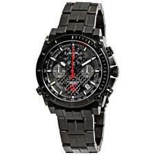 Bulova Precisionist Chronograph Black Carbon Dial Mens Watch 98G257