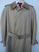 Burberry Prorsum Nova Checks Trench Coat Removable Wool Liner Collar 42
