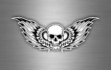 Sticker car motorcycle helmet vinyl chopper biker skull angel wings r2