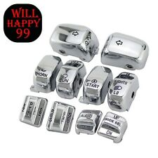 Chrome Hand Control Switch Housing Caps For Harley-Davidson Electra Street Glide