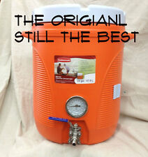 TEN GALLON COOLER MASH TUN WITH SPARGE, THERMOMETER AND VALVE HOMEBREWING