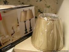 "2 Globe ELECTRIC 12398 TABLE LAMPS 27"" BRONZE W/ BEIGE SHADE BRAND NEW IN BOX"