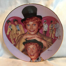 "Lucy & Harpo Marx From 'Lucy Meets the Stars"" By Morgan Collectible Plate 1997"