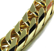 """New Necklace Double Curb Chain 0.35"""" 16-35"""" Gold Plated From Italian Factory #GG"""