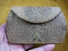 (EL1000-70) Women's Genuine Cane Toad leather hide coin purse Clutch handbag