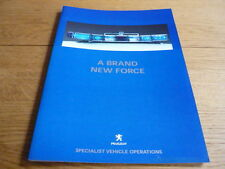 PEUGEOT POLICE AND SPECIAL SERVICES BROCHURE 206, 307, 406, 607 jm