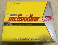 HERSHEY'S MR. GOODBAR MILK CHOCOLATE, PEANUT KING SIZE BARS 18 - 2.6 OZ BARS