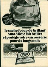 """Publicité Ancienne """" Voiture AUTO-MIROR  1971 (  P. 31 )"""