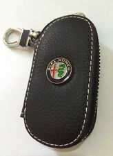 Alfa Romeo  Leather Key Cover Case Holder Ring Chain Fob Small !