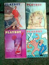 4 Vintage 50's Playboy magazines JUL AUG SEPT 1957 & MAY 1958 good,but some wear