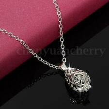 Aromatherapy Water Drop Locket Essential oil Diffuser Necklace Pendant Jewellery