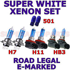 FITS SUZUKI GRAND VITARA 05+ SET H11  H7  HB3 501 SUPER WHITE  XENON LIGHT BULBS