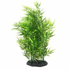 Green Bamboo Leaves Shaped Decorative Artificial Grass For Aquarium N*
