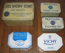 LOT BOITES METAL VICHY DONT ANCIENNES