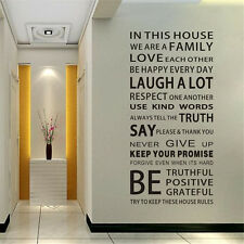 Family Rules Removable Vinyl Decal Art Home Decor Quote Wall Window Room Sticker