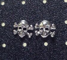 Sterling Silver Skull & Crossbones Post / Stud Earrings 1 Pair. Free Ship in USA