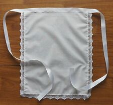 """APRON 16""""X13"""" VICTORIAN FRENCH MAIDS COSTUME WAITRESS LACE TRIMMED POST FREE"""