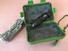 Cree LED 140 Lumen Aluminum Tactical Flashlight with Belt Clip, Case and Charger