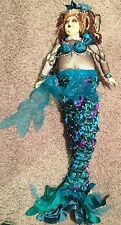 Wayne Kleski Katherine's Collection Dolls Chubby Mermaid Doll Mardi Gras 36""