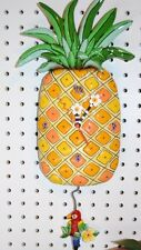 "WHIMSICAL MICHELLE ALLEN PINEAPPLE CLOCK  "" ISLAND TIME"" SHIPS IN 24 HOURS"