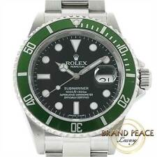 Rolex Submariner date Green sub 16610 LV Z-roulette no Free Shipping
