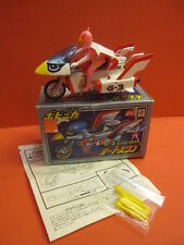 ALL ORIGINAL POPY GATCHAMAN G-3 AUTO SWAN MOTORCYCLE PB-65 MINT + BOX